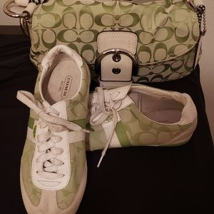 Coach bag and matching shoes